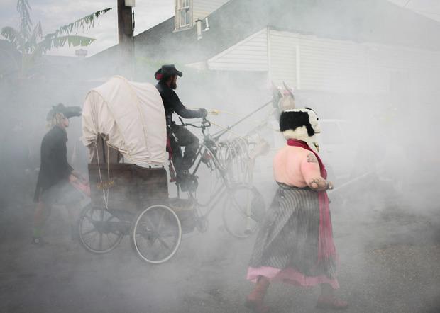 La parata degli scheletri è un classico del Carnevale di New Orleans. Foto: Gisella Sorrentino