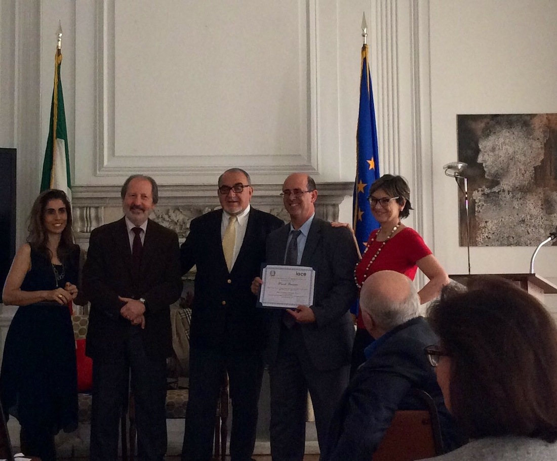 Ilaria Costa (IACE), Carlo Davoli, Berardo Paradiso, Frank Cuttitta, docente di italiano alla East Rockway JSH, e Maria Teresa Cometto (IACE)