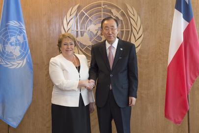 Ban Ki moon Michelle Bachelet