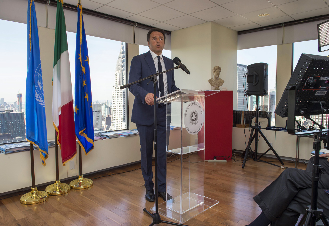 matteo renzi new york