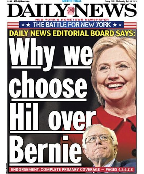 new york daily news front