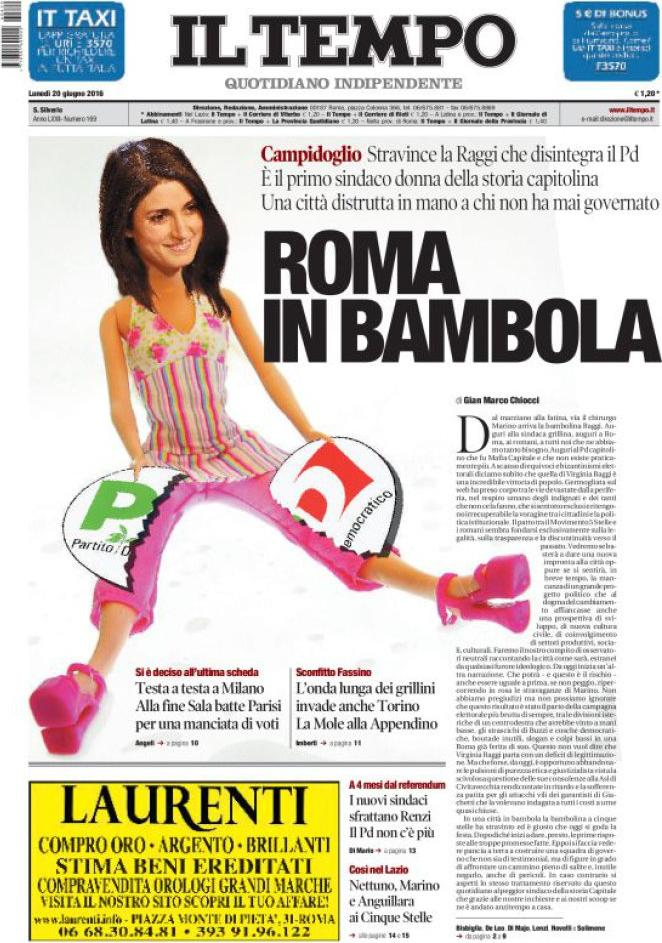 virginia-raggi-roma-in-bambola