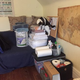 Many students find themselves accumulating mountains of supplies as they prepare to leave