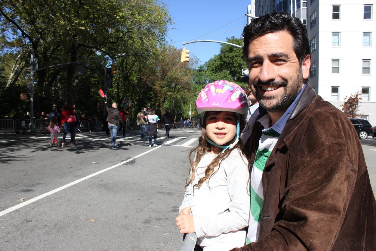 Daniela (left) and her dad Adrés (right):