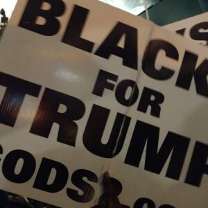 black for Trump
