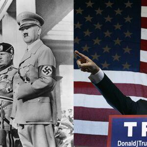 Trump Mussolini Hitler