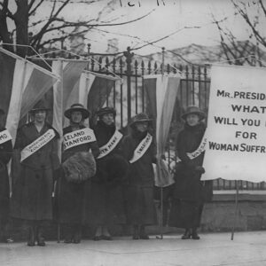 Women March: Silent Sentienls Picketing the White House