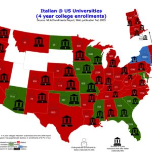 map lingua italiana in America