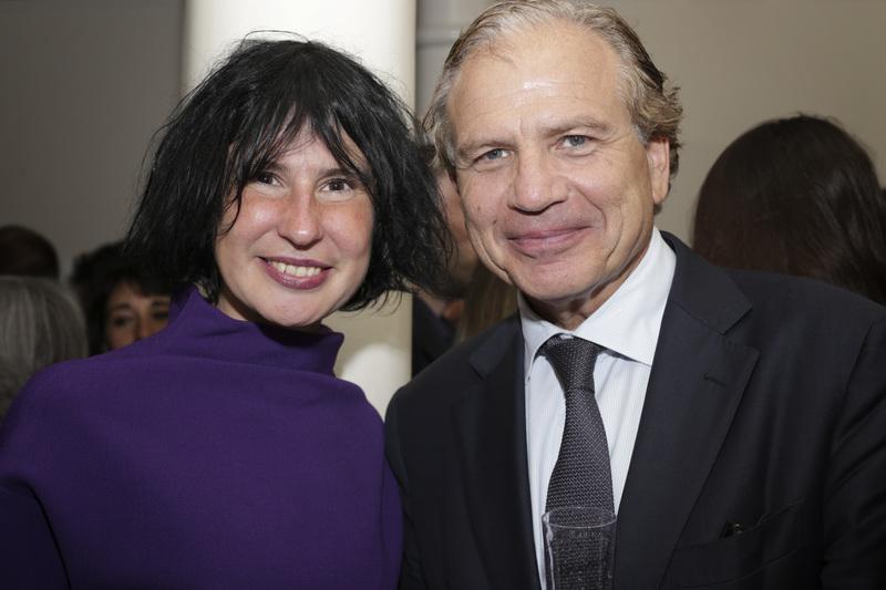 Sara Fruner, cultural liaison de La Voce e il console olandese a New York, Dolph Hogewoning. Foto: Luisa De Luca