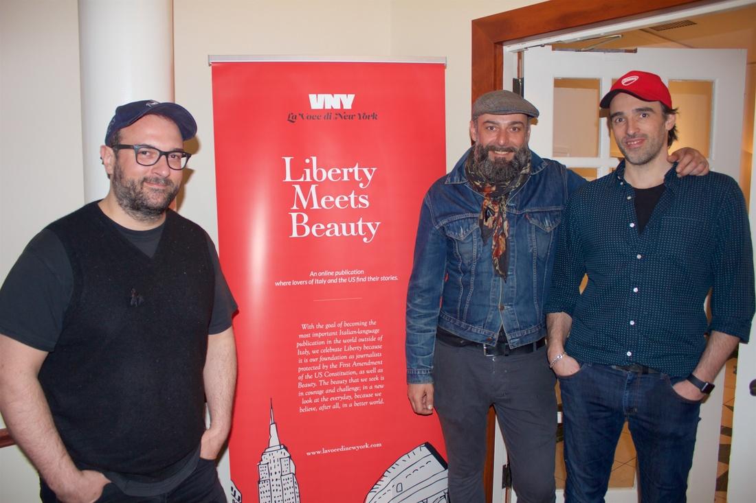 Il team del Piccolo Cafe. Da sinistra: Michele Casadei Massari, Gianluca Capozzi e Alberto Ghezzi. Foto: Byron Salazar