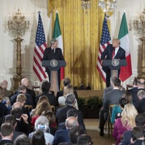 President Trump and Italian Prime Minister Gentiloni press conference.