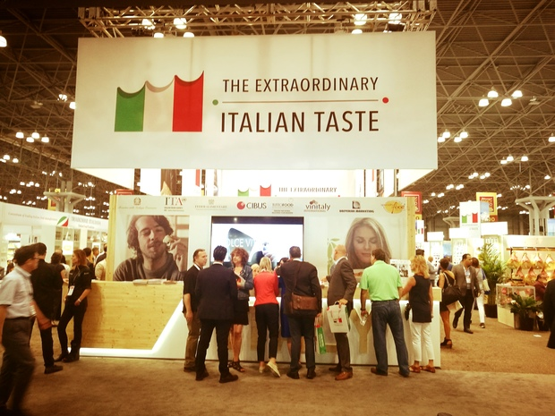 L'ingresso del padiglione italiano al Summer Fancy Food Show di New York