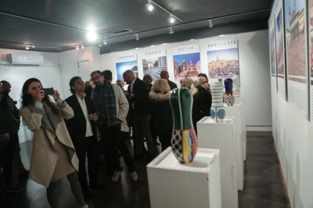 Inaugurazione della mostra all'istituto di cultura italiana