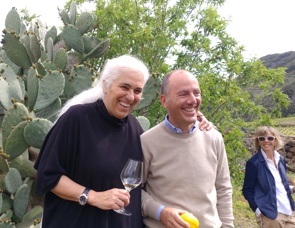Giulia Pazienza Gelmetti, owner of Coste Ghirlanda, and Antonio Rallo, Family Owner of Donnafugata.