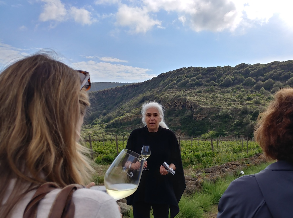 Giulia Pazienza Gelmetti, owner of Coste Ghirlanda, Giving Us a Tour of Her Vineyards.