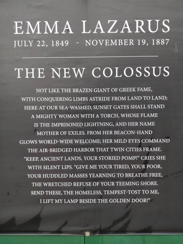 Emma Lazarus, The New Colossus