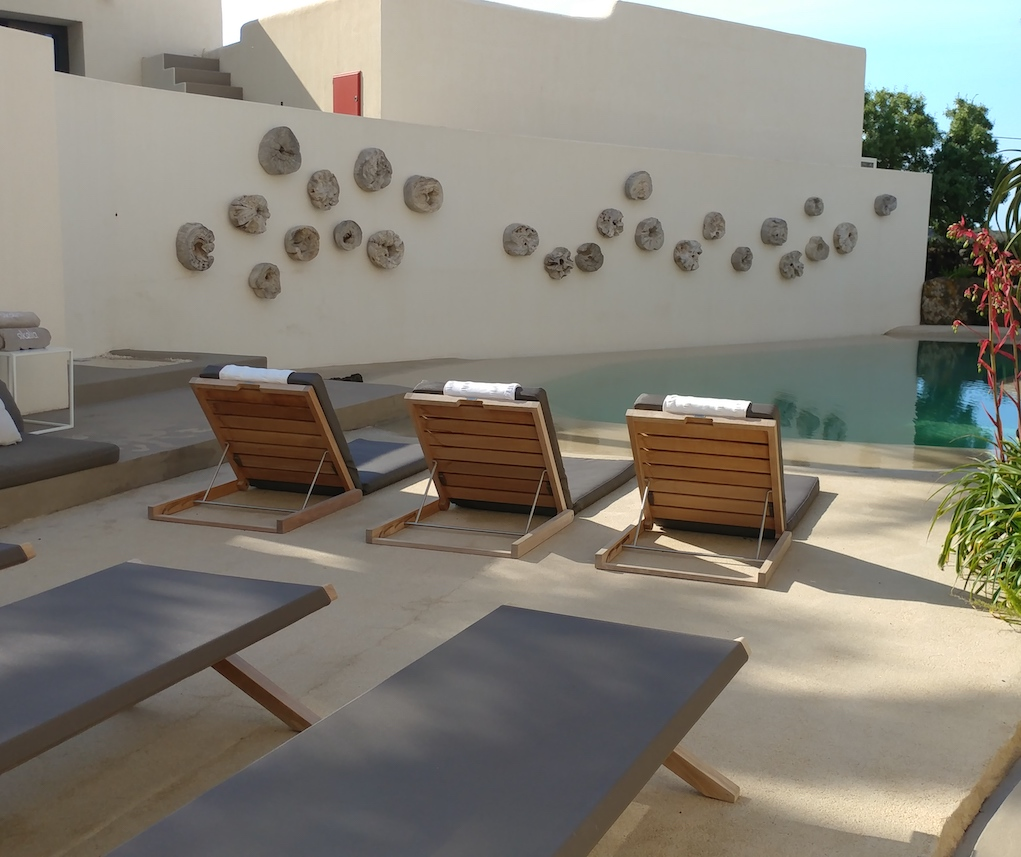 Pool Area at Hotel Sikelia.