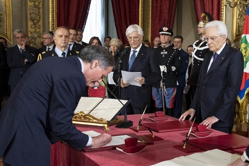 Il ministro degli Esteri Enzo Moavero Milanesi