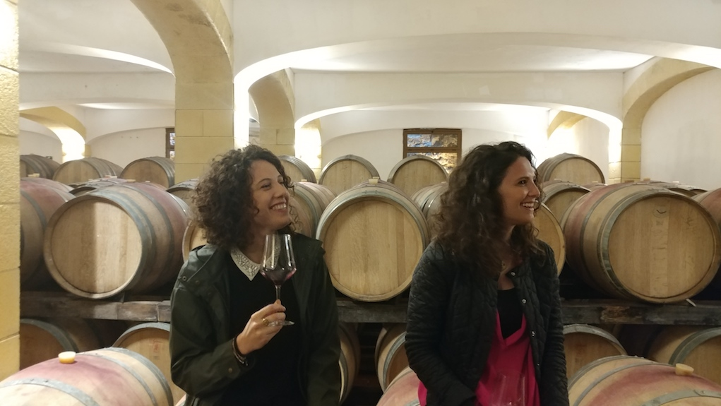 Rosanna and Giovanna Caruso in Cellar