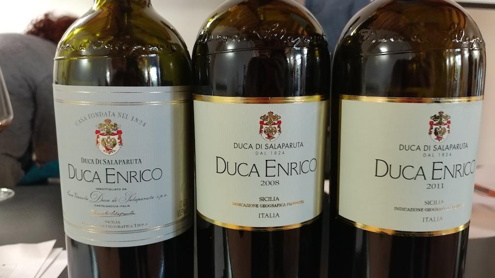 """Vertical of Duca di Salaparuta """"Duca Enrico"""" Nero d'Avola"""