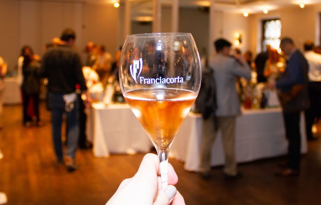 Franciacorta Sparkling Rosé at First Franciacorta Festival in NYC. Photo Credit Meghan Schaetzle