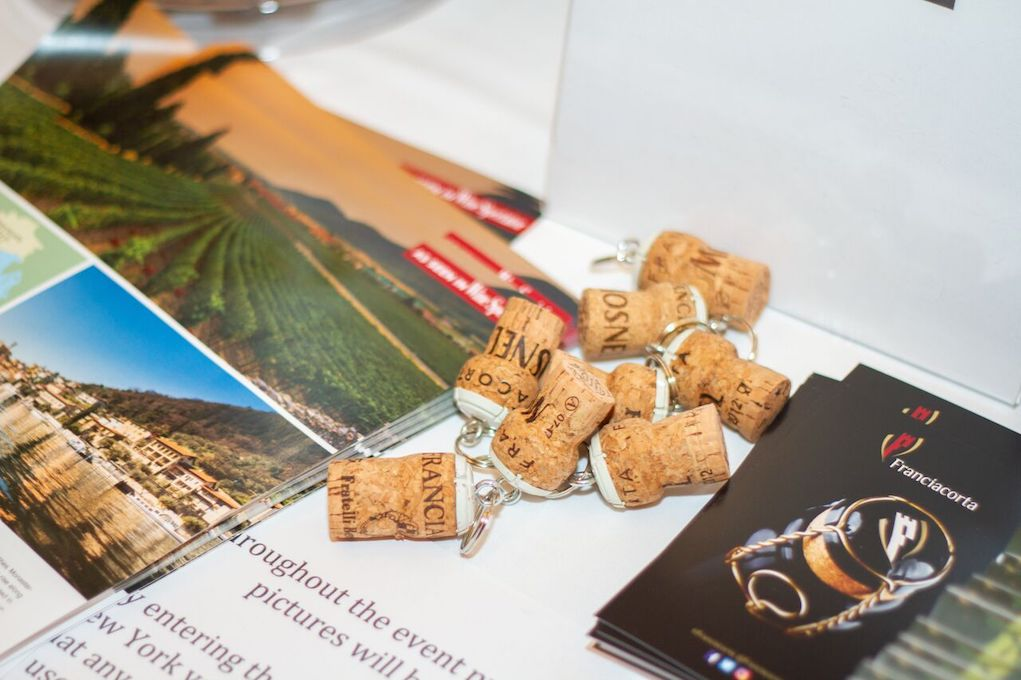 Information Table at First Franciacorta Festival in NYC. Photo Credit Meghan Schaetzle