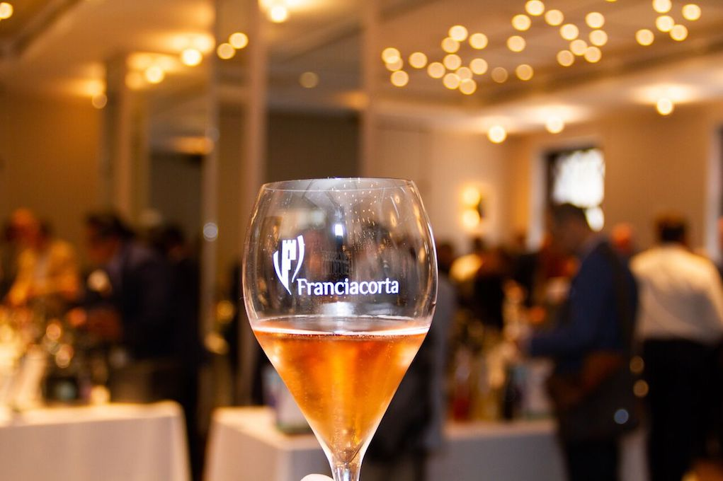 The Franciacorta Sparkling Rosé at First Franciacorta Festival in NYC. Photo Credit Meghan Schaetzle