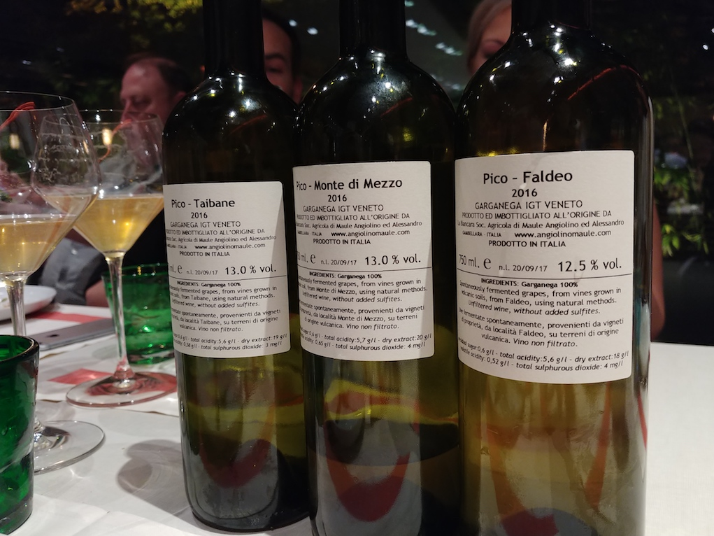 Angiolino Maule's Pico Single Cru Wines Taibane, Monte di Mezzo and Faldeo.