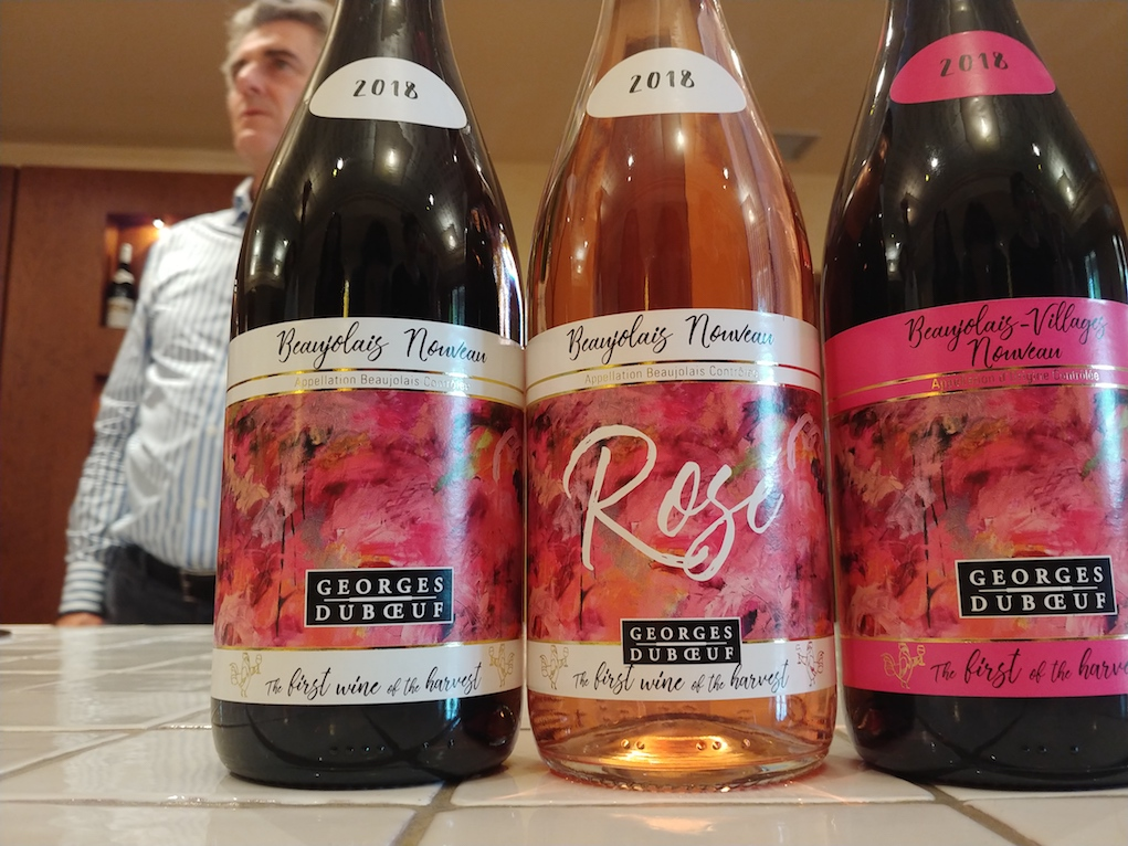 2018 Beaujolais Nouveau Labels SIDE NOTE That is not the 2018 wine in the bottles
