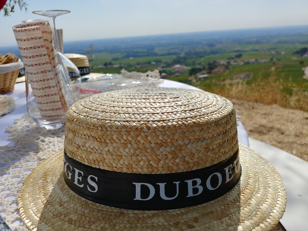 Our Picnic Overlooking the Fleurie Cru Vineyards in Beaujolais