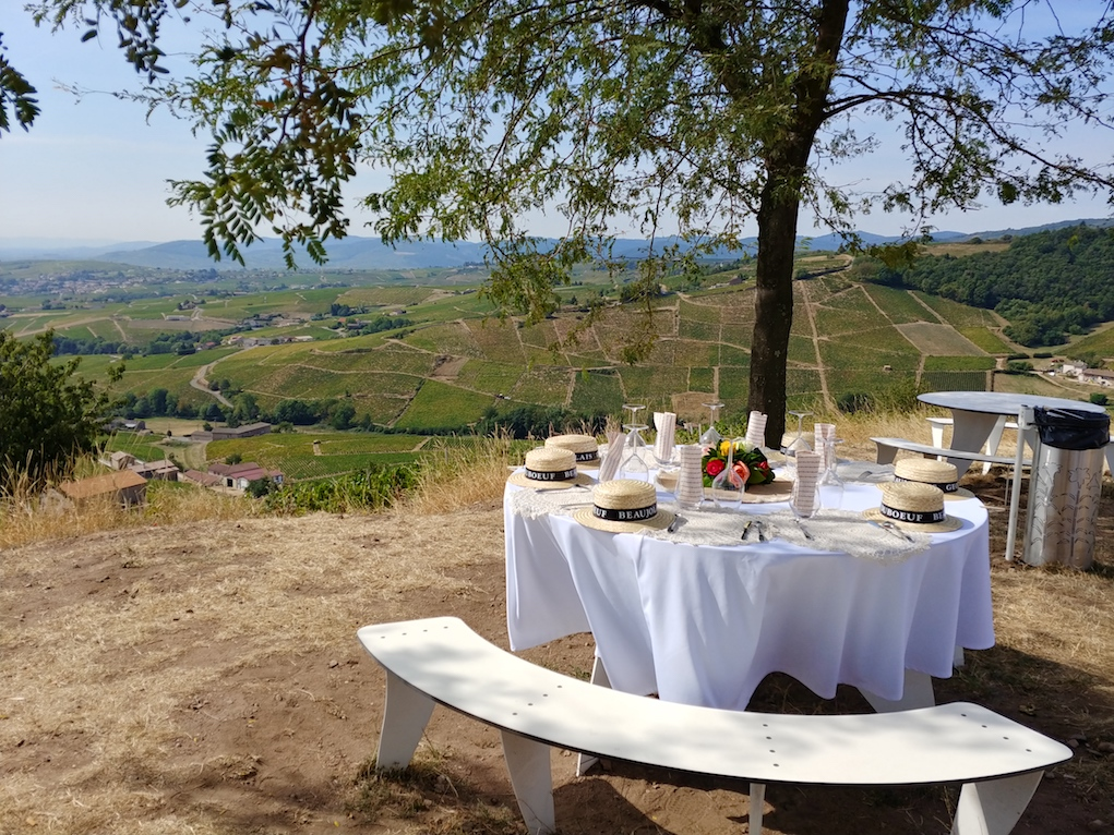 Picnic at the Top of La Madone de Fleurie