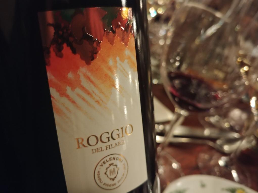 The 2014 Velenosi Roggio del Filare Rosso Piceno DOC Superiore