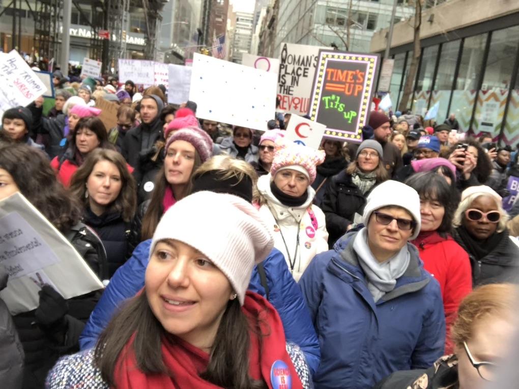 La marcia delle donne 2019 a New York.