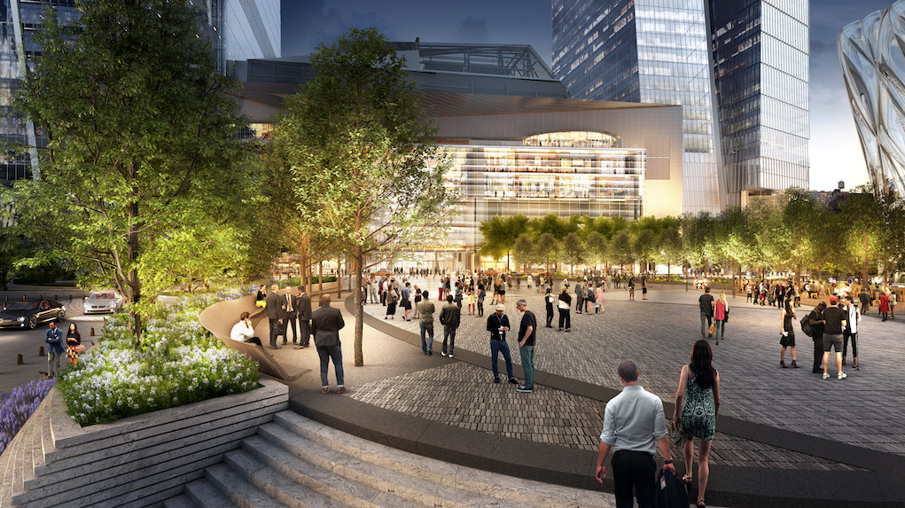 Hudson Yards Retail and Public Square. Courtesy of Related-Oxford