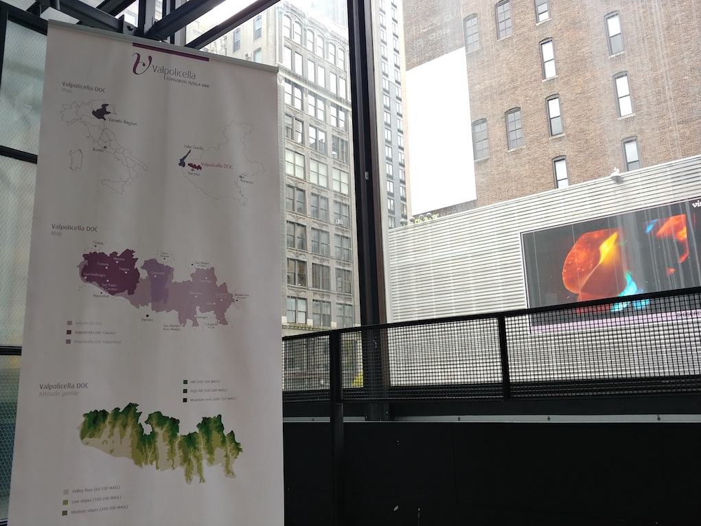 Map of Valpolicella at Ripasso Event in New York City