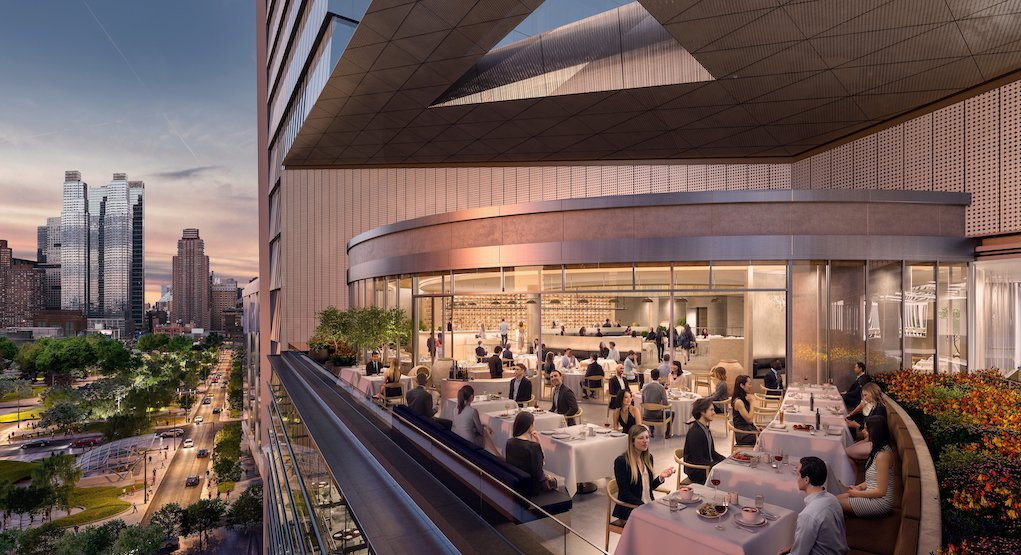 View of Outdoor Terrace at Estiatorio Milos, The Shops & Restaurants at Hudson Yards