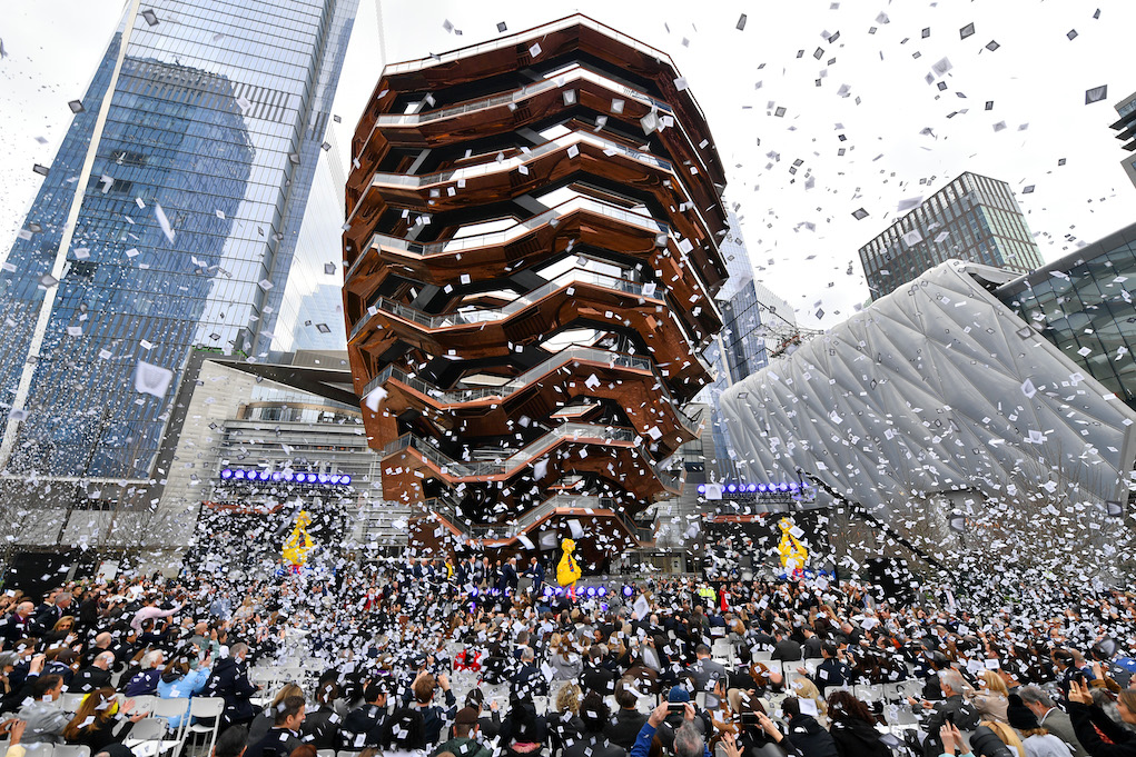 NEW YORK, NEW YORK - MARCH 15: A view of the celebration at Hudson Yards, New York's Newest Neighborhood, Official Opening Event on March 15, 2019 in New York City. (Photo by Dia Dipasupil/Getty Images for Related)