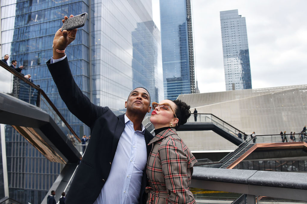 NEW YORK, NEW YORK - MARCH 15: Don Lemon and Debi Mazar attend Hudson Yards, New York's Newest Neighborhood, Official Opening Event on March 15, 2019 in New York City. (Photo by Clint Spaulding/Getty Images for Related)