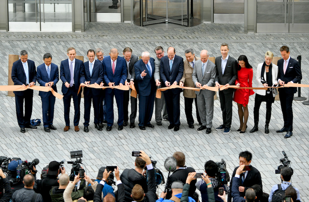 NEW YORK, NEW YORK - MARCH 15: Related Companies executives cut the ribbon at Hudson Yards, New York's Newest Neighborhood, Official Opening Event on March 15, 2019 in New York City. (Photo by Dia Dipasupil/Getty Images for Related)