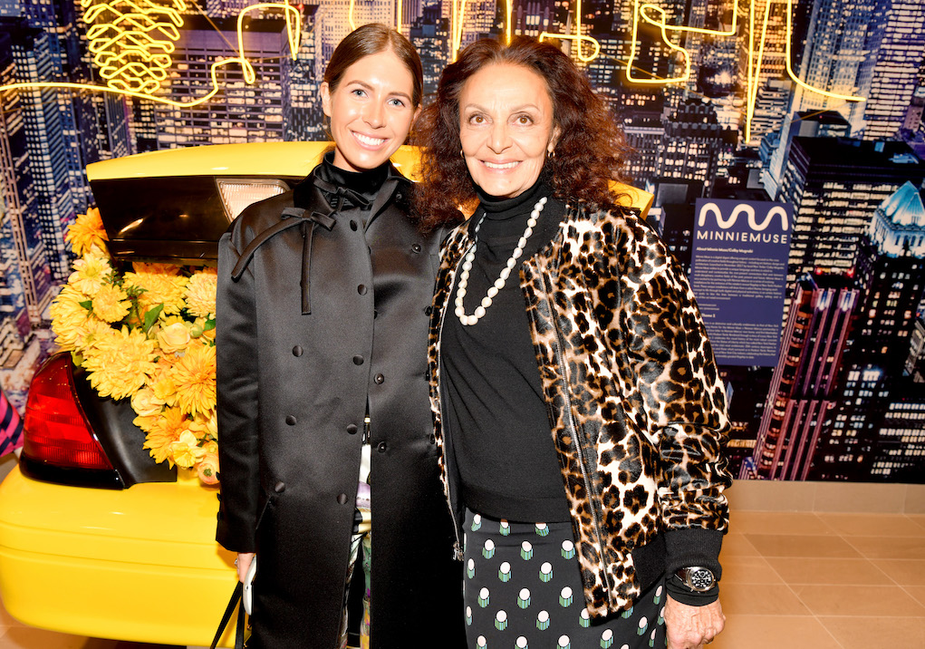 NEW YORK, NEW YORK - MARCH 14: Diane von Furstenberg (R) attends The Shops & Restaurants at Hudson Yards Preview Celebration on March 14, 2019 in New York City. (Photo by Clint Spaulding/Getty Images for Related)