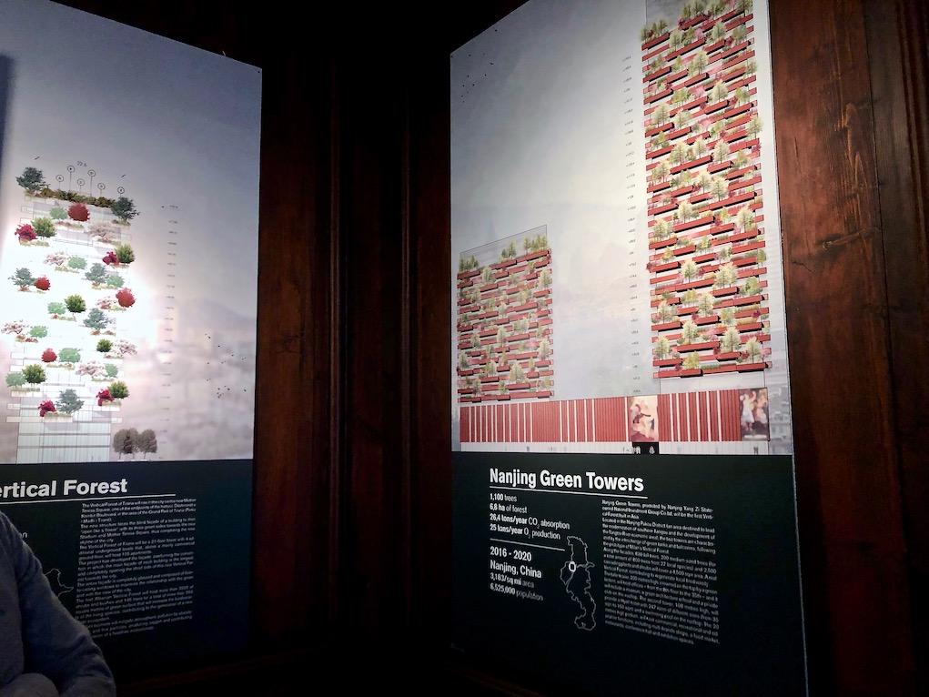 Alcune grafiche della mostra.