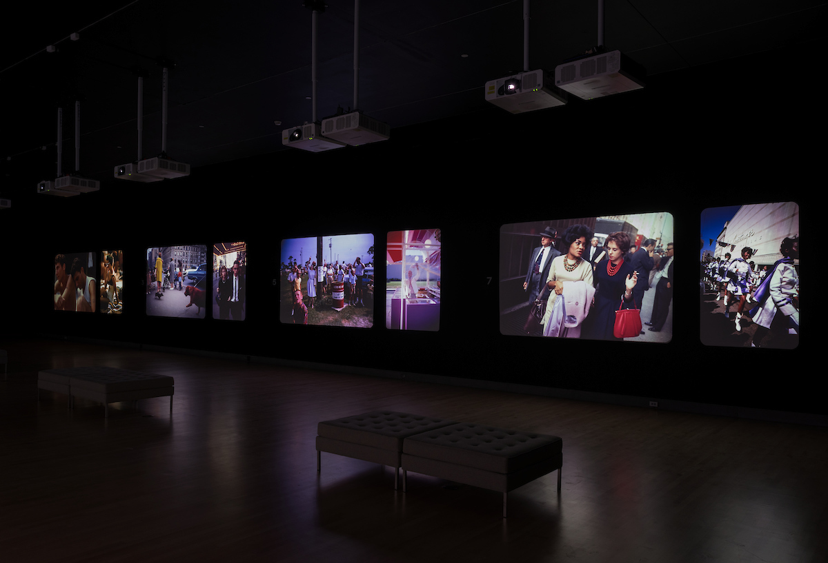 Installation view, Garry Winogrand: Color, May 3, 2019 - December 8, 2019. Brooklyn Museum. (Photo: Jonathan Dorado)