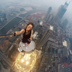 Dangerous selfie--Angela Nikolau. FlickR