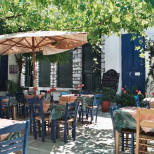 Taverna in Naxos, Greece. Photo Wikipedia