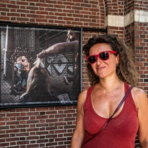 Francesca Magnani all'esposizione del Museum of the City of New York
