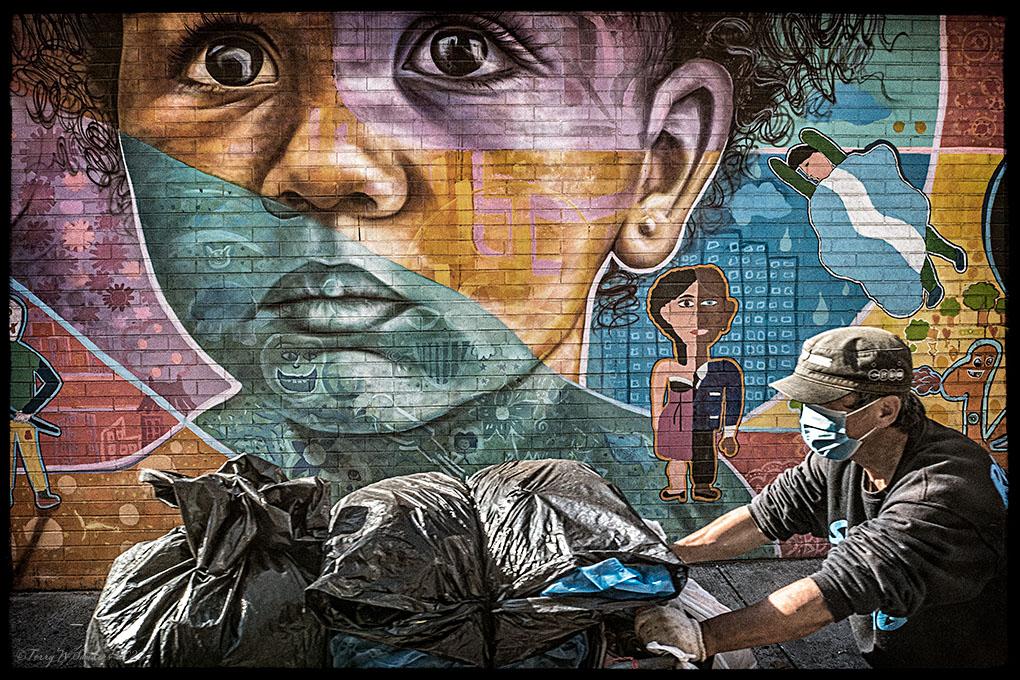 Ottobre 2020, Murales a New York al tempo della pandemia Covid-19 (Foto di Terry W. Sanders)
