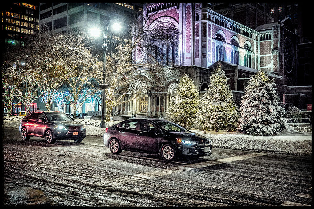 St Bartholemew's, Park Ave, New York, Dicembre 2020 (di Terry W. Sanders)