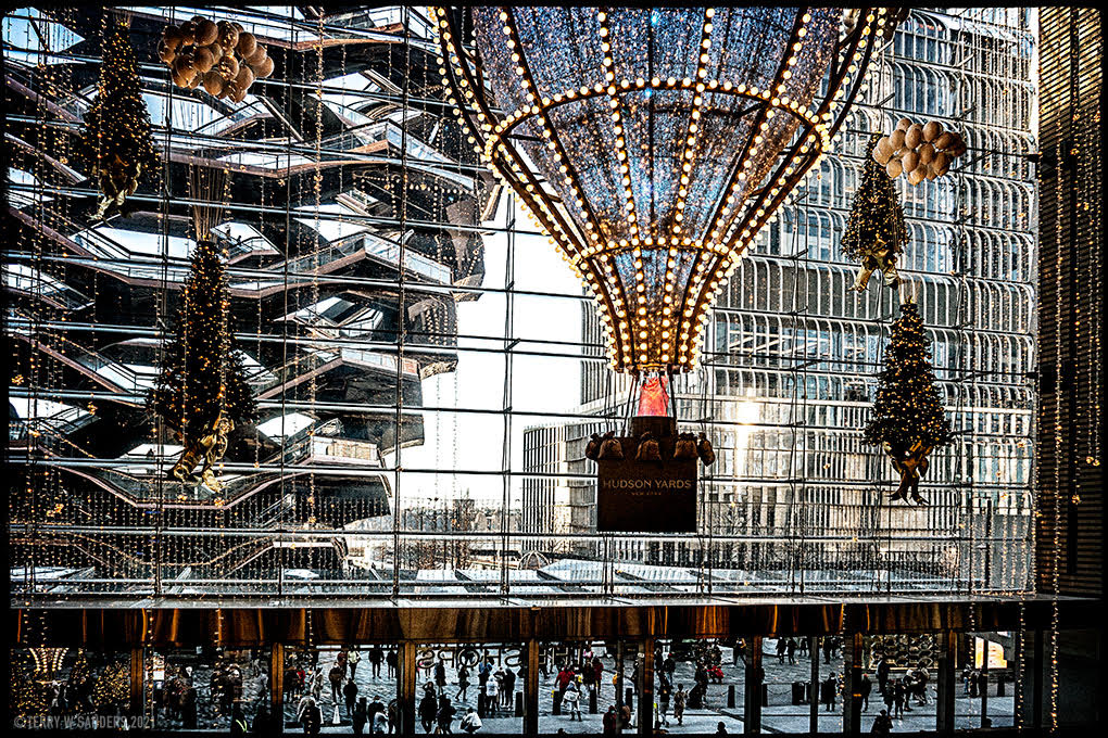 L'entrata vista dal primo piano, Hudson Yards, 20, Shopping Mall, New York (di Terry W. Sanders)