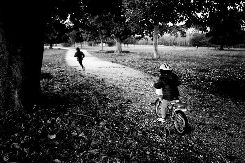 Giocando a rincorrersi nel parco
