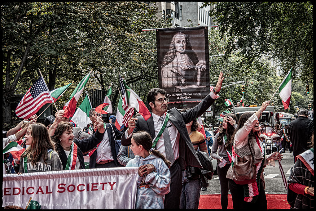 Medical Society, Columbus Day Parade NYC 2021 (Foto di Terry W. Sanders)